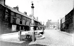 Market Place, Poulton (Damaged Market Cross)~C1890